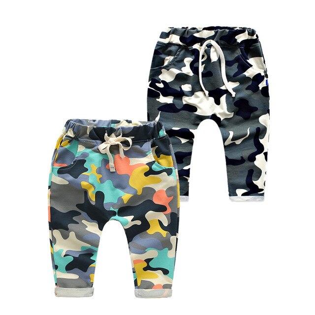 2017 розничная малышей baby boy брюки дети гарем брюки камуфляж гарем брюки дети 100% хлопок теплые мальчиков и девочек брюки для 2-7 год