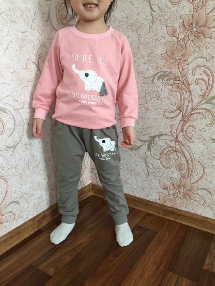 Трикотажный костюм для девочки за 415 руб. с Алиэкспресс
