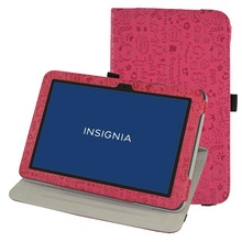 360 Degree Rotary Rotating Leather Cute Case Cover For 10.1″ Insignia Flex NS-P10A7100 Tablet