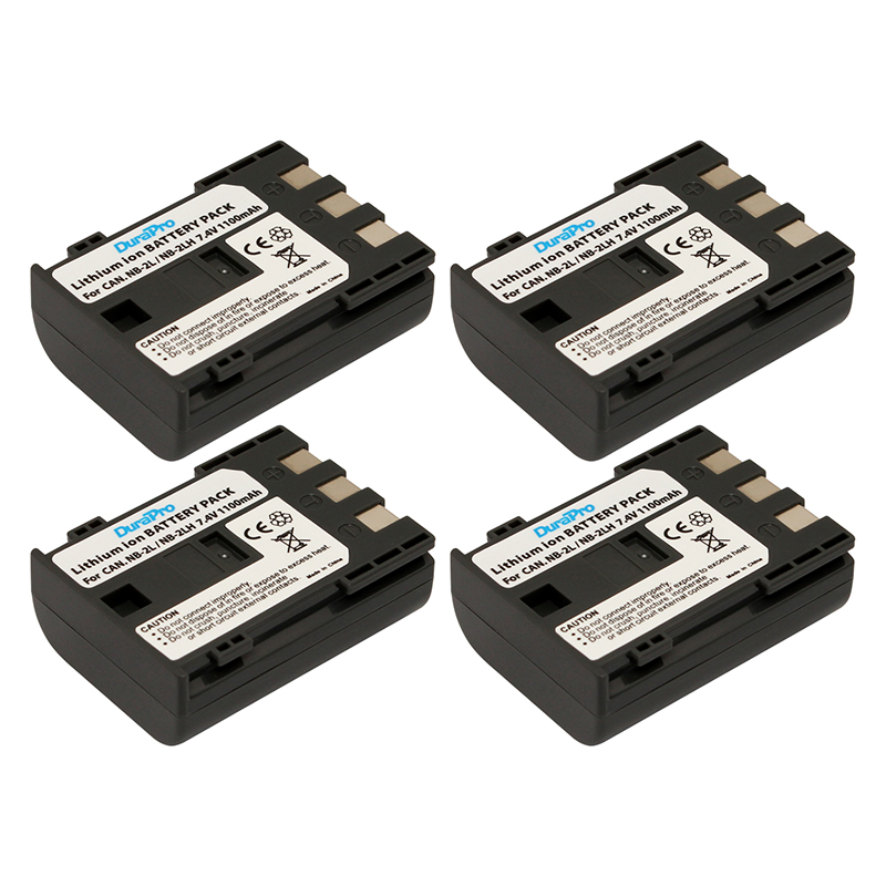4 pc NB-2L NB 2L NB2L NB-2LH Bateria Li-ion Recarregável 7.4 V para Canon  EOS S80 S70 S50 S60 350D 400D G7 G9 Beijo N X Rebel XT XTi 1f6957218eb6a