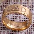 Novo 2017 a Europa E Os Estados Unidos Populares Aço Inoxidável Pai anel Preto Anel de Ouro Quatro Cores Presente Para O Pai NOS Tamanho 7-11