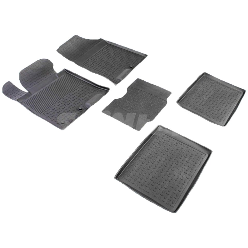 Rubber floor mats for Hyundai i40 2012 2013 2014 2015 2016 2017 2018 Seintex 83188 все цены