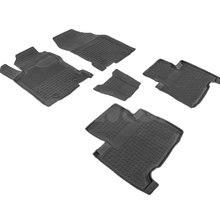 Резиновые коврики для Lexus NX (2014-2017) с высокими бортиками (Seintex 86447) КРОМЕ ГИБРИДНЫХ АВТОМОБИЛЕЙ