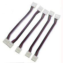 Бесплатная доставка 20 шт 12 мм 5pin Solderless двухсторонний провод соединитель Адаптер для не Водонепроницаемый RGBW 5050 светодиодные ленты