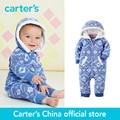 1-часть картера baby дети дети симпатичные капюшоном руно комбинезон 118G641, продавец картера Китай официальный магазин