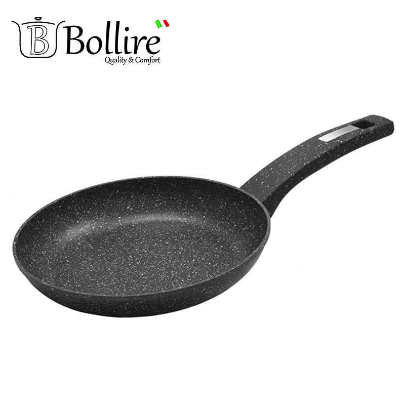 BR-1005 Pan Bollire VENEZIA 20 cm Forged aluminum FULL INDUCTION BOTTOM Suitable for all types of plates, including induction br 1010 pan deep frying bollire full induction bottom non stick layer frying pan high quality flat bottom cookware