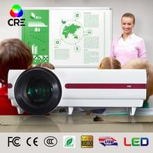 El envío gratuito! Brightest3500lumens Led Proyector de vídeo Digital 3D Nativa Full hd 1080 P, 720 P proyector casero