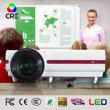 Free shipping !Brightest3500lumens Led 3D Digital video Projector Native Full HD support 1080P,720P home projector