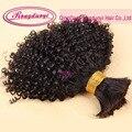 3pcs Human Braiding Hair Bulk Virgin Brazilian Human Hair Afro Kinky Bulk Hair Human Hair for Braiding Bulk No Attachment