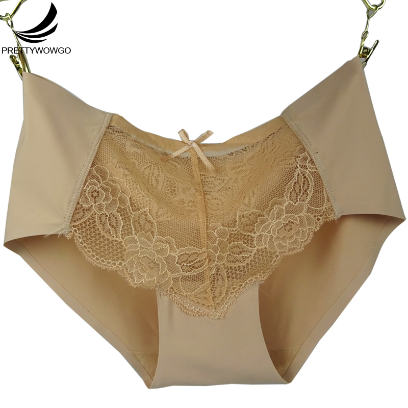 9062 Prettywowgo New Arrival Intimates 2018 Women Sexy Hollow Out Lady Lace Panties Seam ...