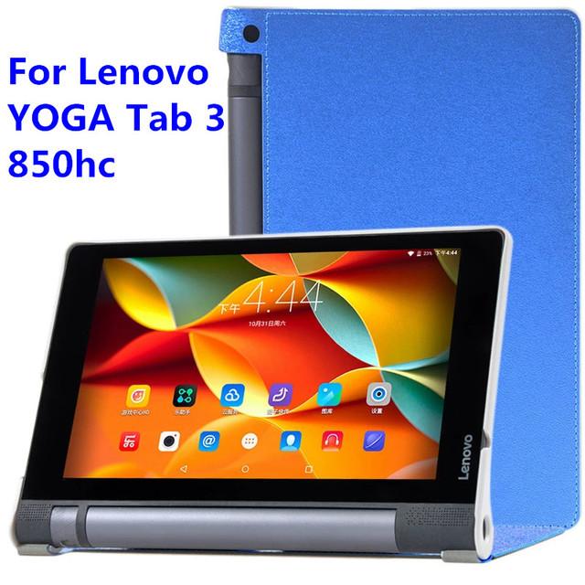 Caso original para el Yoga Tab 3 tableta Inteligente casos con auto sueño de la estela de lenovo yoga tab 3 850 850f ultra-delgada de protección shell