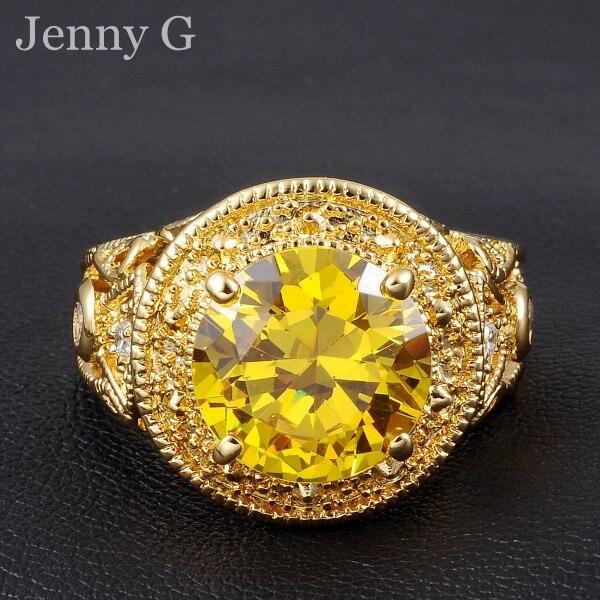 Jenny G Jewelry Size 9 11 Antique Topaz Garnet Big Stone 10KT Gold