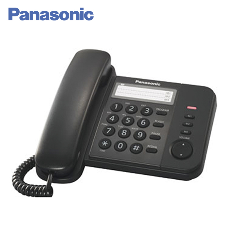 Panasonic KX-TS2352RUB Phone Home fixed Desktop Phone Landline for home and offfice use. adjustable plastic holder stand for phone and tablet pc black