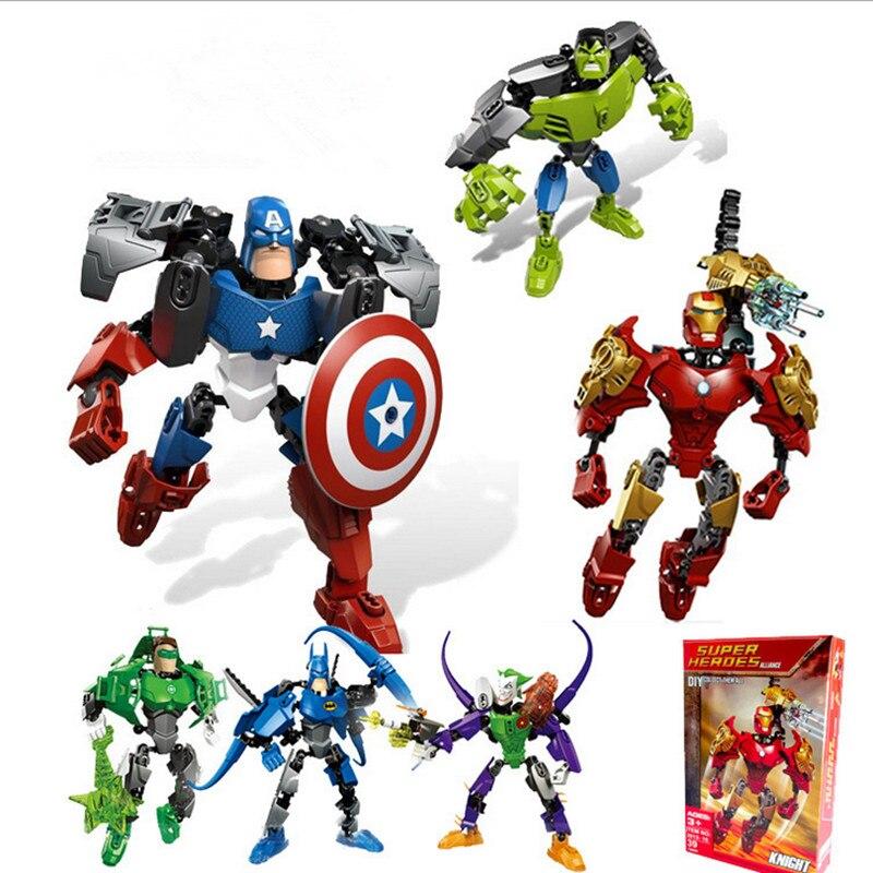 LegoeING Marvel Avengers Super kombination Évolution Baustein Modell Super-Héros BatMan Hulk Joker Ziegel Spielzeug 2in1 Jouets