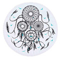 2016 New 150cm Dreamcatcher Printed Round Beach Cover Up Beach Towels With Tassel Toalla Playa Serviette De Plage Free shipping