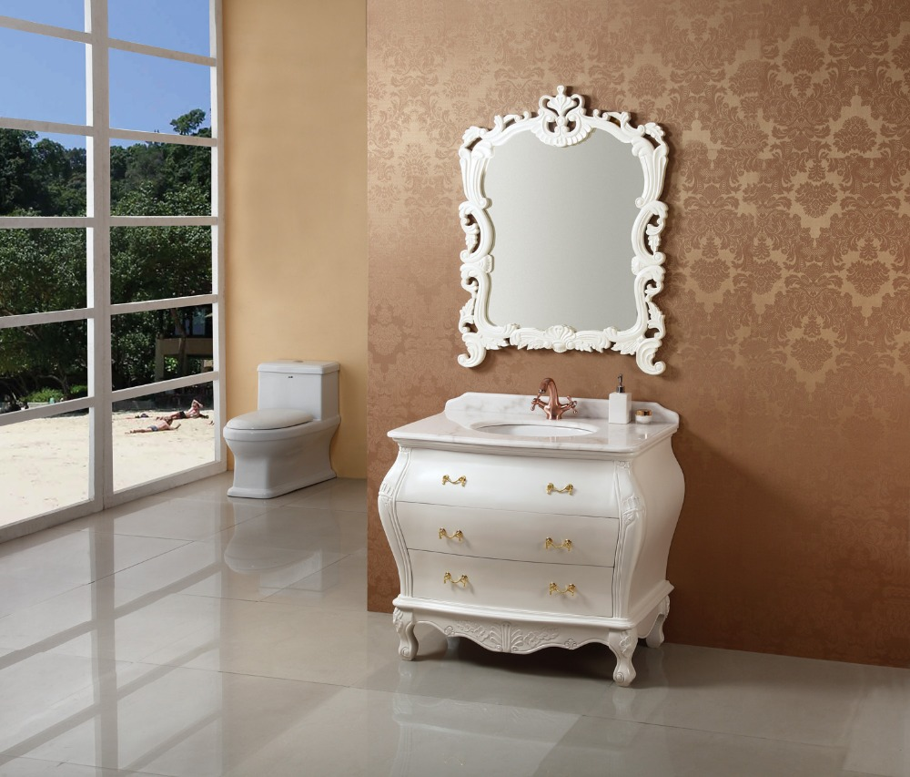 Best Price China Factory Solid Wood Bathroom Cabinet 02818057