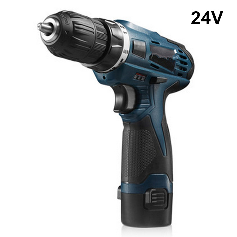 24V <font><b>Electric</b></font> <font><b>Cordless</b></font> <font><b>Drill</b></font> Multifunction Rechargeable <font><b>Screwdriver</b></font> With Battery Power Tools destornillador electrico image