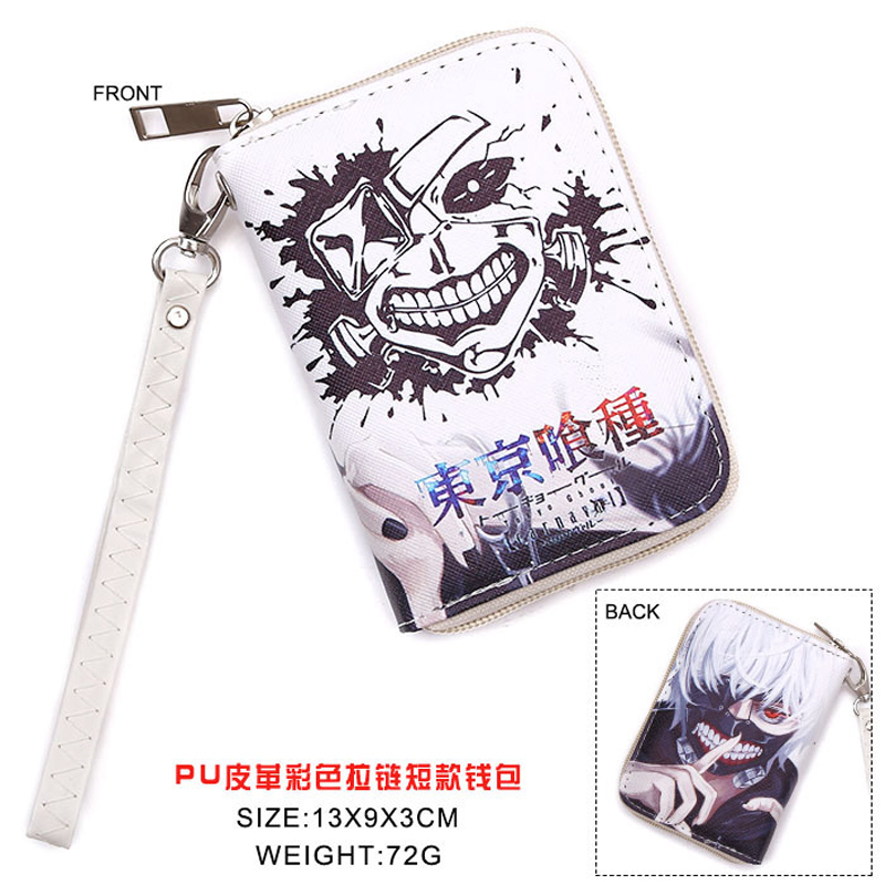 Another style of Anime Tokyo Ghoul Kaneki Ken PU Short Wallet Purse With Zipper