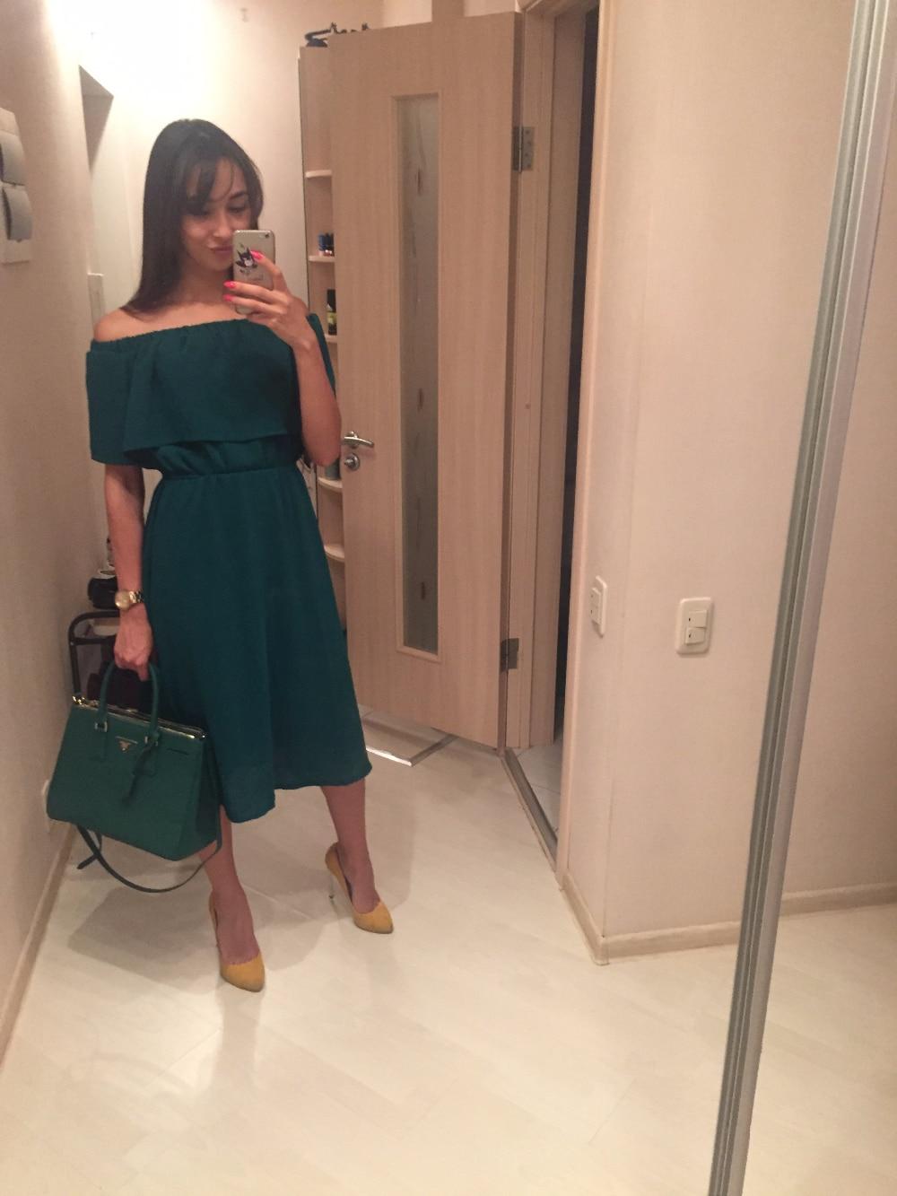 Платье с открытыми плечами с Алиэкспресс