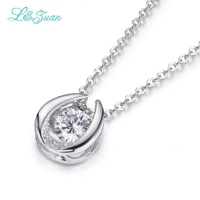 L & цзуань 925 стерлингового серебра 0.9ct камень ожерелье Япония оригинал смарт серии Танцы кулон Ювелирные Изделия с цепочкой для женщин как подарок