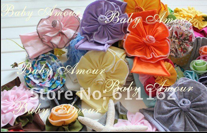 600 шт. цветок лилии волосы детей волос украшают цветок ребенка волосы девушки ленты для волос повязки