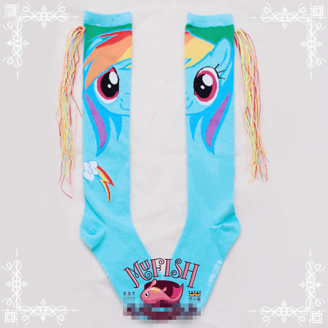 Princesa meias lolita doce japonês personalidade harajuku meias GXW60 trançado rabo de cavalo pônei bao li manual