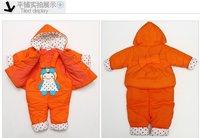 новое постулат малыша девушки зимняя одежда устанавливает хлопок - хлопка-НДС утолщение куртка с Заголовок + тело 2 шт. комплект 1 - 3 т бесплатная доставка