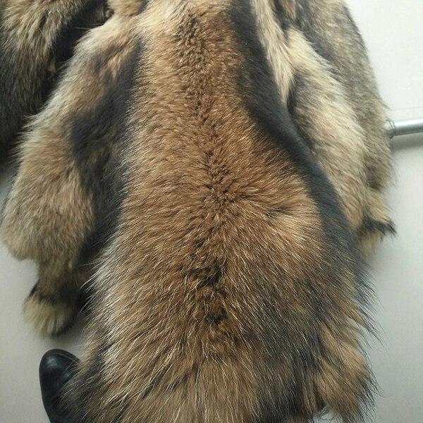 Bonne qualité vraie peau de raton laveur/peau de raton laveur bronzé peau de fourrure réelle - 2