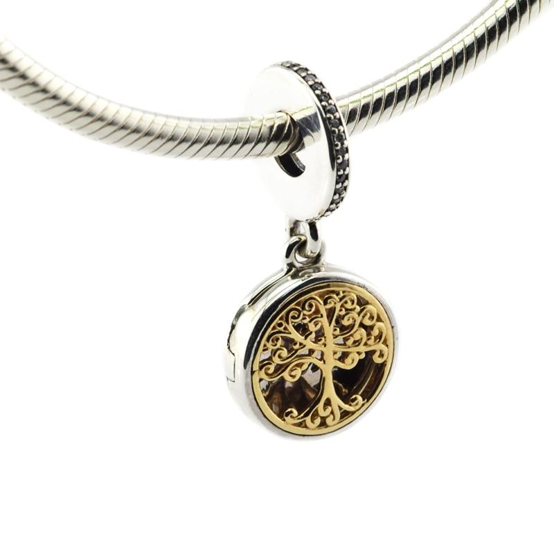Adapte Pandora Bracelets Perle Famille Racines Clair CZ 100% 925 Bijoux En Argent Sterling Charmes DIY Faire de Gros