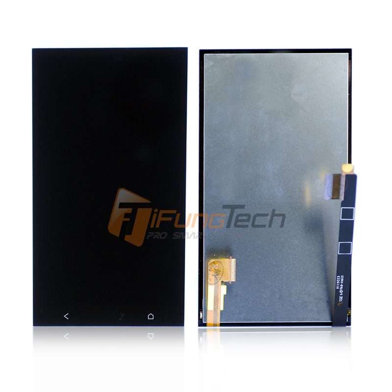 100% Original For HTC One M7 LCD Display +Touch Screen with Digitizer Full Assembly , Black Free shipping !!! lcd screen display touch panel digitizer with frame for htc one m9 black or silver or gold free shipping