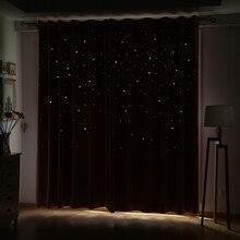 Современные оконные занавески для гостиной, 3d, полые, Звездные узоры, оконные занавески, одноцветные занавески для спальни, однопанельные(цвет 4