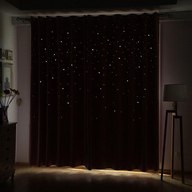 Moderne Fenster Vorhang Wohnzimmer 3d Hohle Stern Muster Behandlungen Vorhnge Feste Fr Schlafzimmer Einzelplatte
