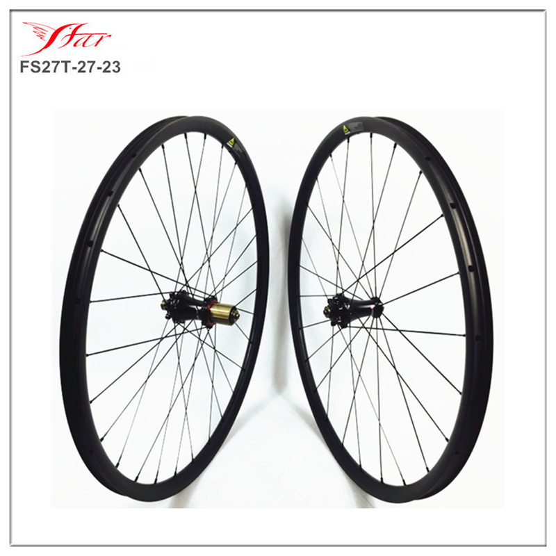 High end carbon wheels with Extralite hubs, 24/28H , Farsports 29er carbon clincher MTB bike wheelset 27mm x 23mm deep , UD matt