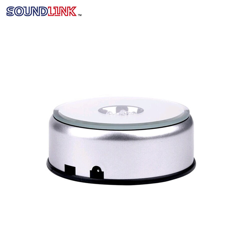 LED Light 360 Turntable Rotating Acrylic Display Stand Hearing Aids In-ear Monitors Jewelries Stand Display ems free shipping 3d photo shop display rotating turntable 360 degree mannequin photography stand