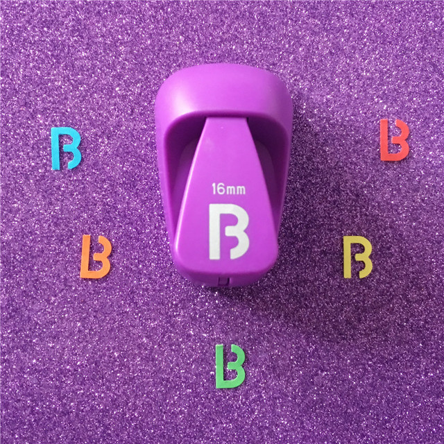 Free Shipping Alphabet B shaped save power paper/eva craft punch Scrapbook Handmade punchers DIY b letters hole punches puncher