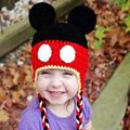2016 Hot Sale Fashion Cute New Baby Hat Cotton Blends Caps Newborn  Lovely Infant  Hat Mickey Print Baby Clothing Accessories