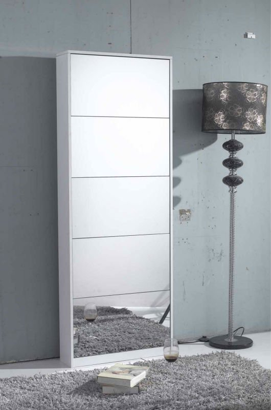 GLS17024 Wooden Mirror Shoe Cabinet ...