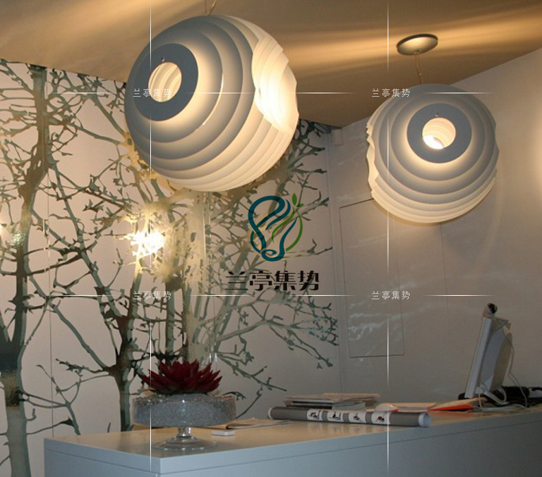 Modern White Supernova Pendant Lamp Pensonal Creative Bird Nest Shape Light Living Room Light Cafe Light Free Shipping