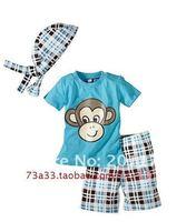 Бесплатная пересылка 136 3 шт. обезьяна дети мальчика костюм набор оптовые