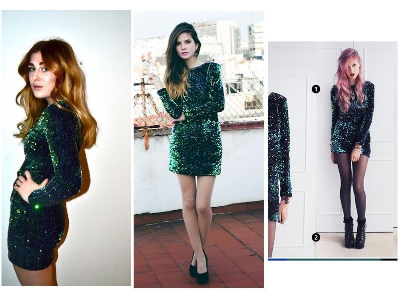 49dcf14756 Hot Sale Genuine Gabby Sequin Plunge Back Dress in Iridescent Green-in  Dresses from Women s Clothing on Aliexpress.com