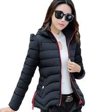Большой Размер Женщин Ватник Пальто Куртка Студенты 2016 Новый зима и Осень Короткие Тонкий Ватник Пальто Женщин Casacos LH405