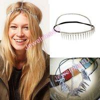 новое поступление горячие мода женщин шипы ободки серебро тон стильный головной убор ювелирные изделия 6 шт./лот бесплатная доставка