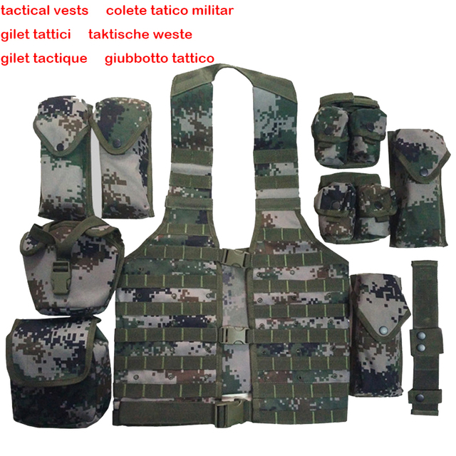 Chalecos chaleco de combate táctico militar SWAT tattico gilet tactique giubbotti tattico taktische weste colete tatico militar Oxford