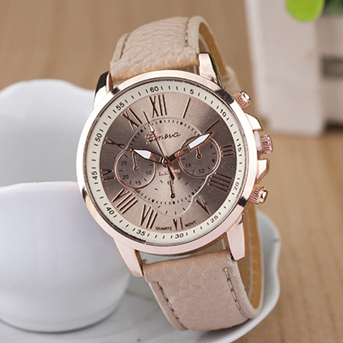 Women's Fashion Geneva Roman Numerals Faux Leather Band Quartz Wrist Watch top sale montre femme quartz watch women s fashion geneva roman numerals faux leather analog wrist watch relogios femininos yo1