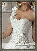 бесплатная доставка новое постулат бал платье одно плечо Alma белый veto ТЛ свадебные платья свадебные платья выпускного вечера платья - м46