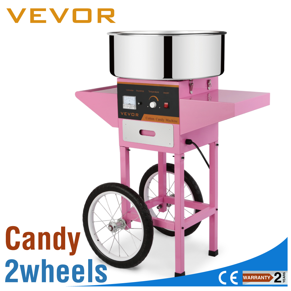 Floss Maker Pink Birthday With Cart Electric Commercial Cotton Candy Machine
