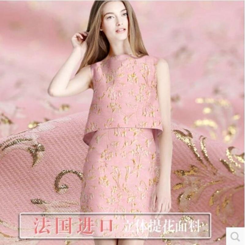 Tejido tridimensional de brocado jacquard rosa 280 gramos por - Artes, artesanía y costura