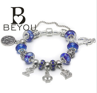 Sorority PDI Charm Bracelet for Zeta Phi Beta  charm bead  bracelet bangle with crystal letters