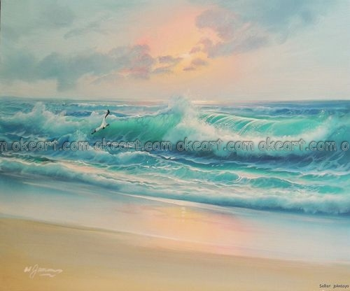 SMALL PAINTINGS - Wave 1 - Surf Art Ganadu Original Paintings