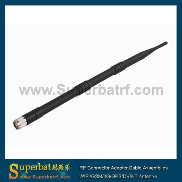 Superbat WiFi Складная антенна 2,4 ГГц 9dBi Omni Booster RP-TNC разъем для WRT54G WAP54G супер Wifi резиновая антенна